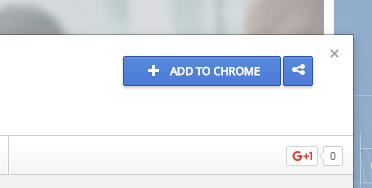 Add to chrome button
